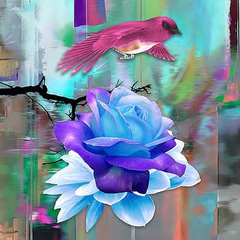 Pink Birds Flight by Marvin Blaine