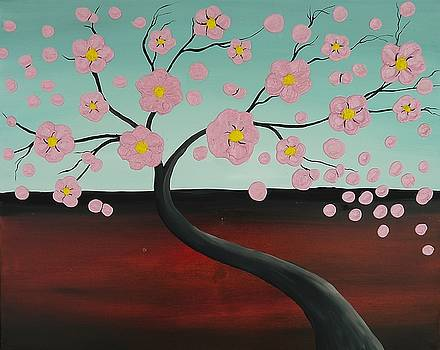Pink Blooming Tree by Edwin Alverio