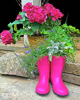 Pink Boots by Susan Leggett