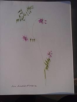 Pink botanical by Lisa LaMonica