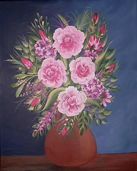 Pink Bouquet by Iris  Mora