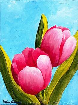 Phyllis Howard - Pink Bubblegum Tulips I