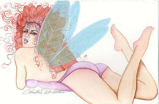 Pink Butt fairy by Christine Winters