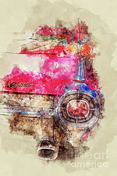 Pink Cadillac - Back by Delphimages Photo Creations