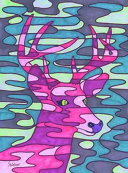 Pink Camo Deer by Susie WEBER