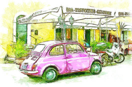 Pink car by Giuseppe Cocco
