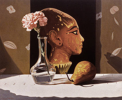 Pink Carnation and Egyptian Head by Daniel Montoya