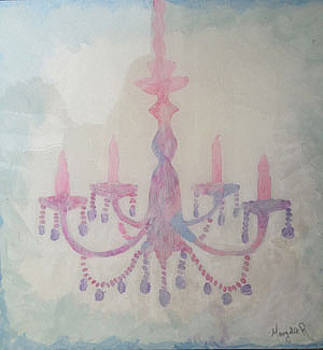 Pink Chandelier by Margalit Romano