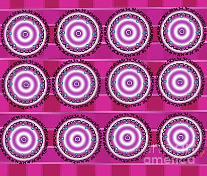 Pink circle by Artist Nandika Dutt