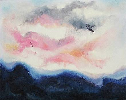 Suzanne  Marie Leclair - Pink Clouds and Blue Hills