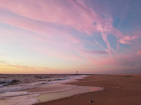 Pink Clouds Over The Inlet by Robert Banach