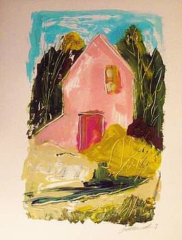 Pink Country House by John Williams