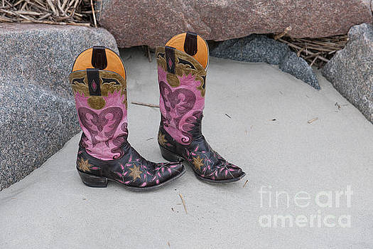 Dale Powell - Pink CowGirl Boots