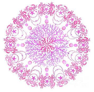 Pink Crab Mandala by Stephanie Troxell