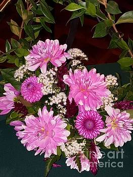 Pink Dahlia Bouquet by Gregory Rhode