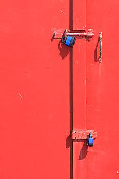 Pink Door Lock by Darren Kearney