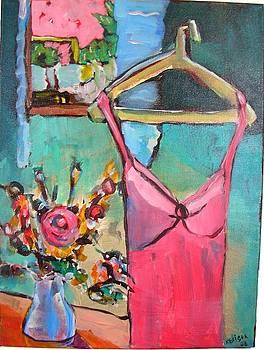 Pink Dress by Karen Geiger