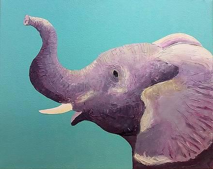 Pink Elephant by Hilda Garcia