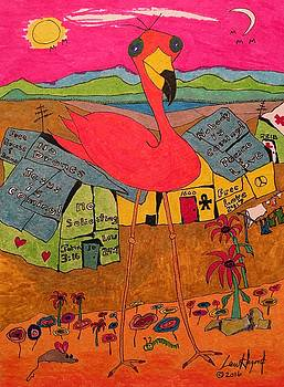 Pink Flamingo Camp by Lew Hagood