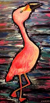 Pink Flamingo by Stefanie Silva