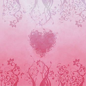 Pink floral heart by Playfulfoodie