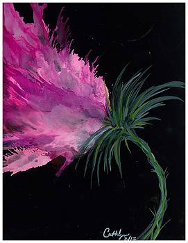 Pink Flower Bend by Cathlyn Driscoll