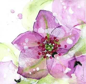 Pink Flower in the Snow by Dawn Derman