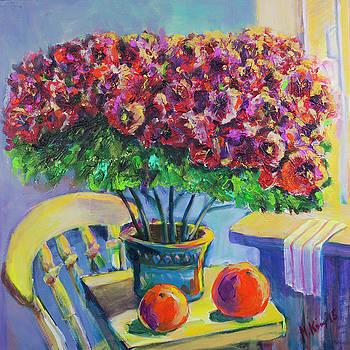 Pink Flowers by Maxim Komissarchik