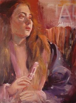 Pink Flute by Irena Jablonski