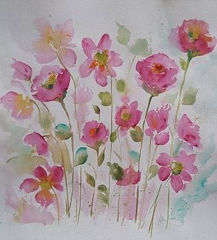 Pink Garden 2  by Kathy  Karas