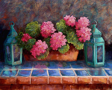Pink Geraniums by Candy Mayer