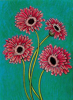 Pink Gerberas by Richard Lee