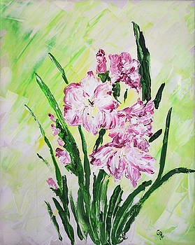 Pink Glads by Gaynell Parker