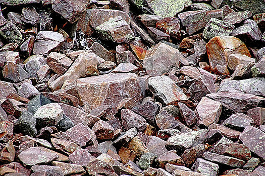 Debbie Oppermann - Pink Granite Rock Abstract
