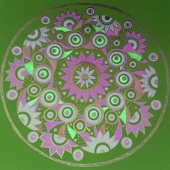 Pink circle 10 by Jilly Curtis