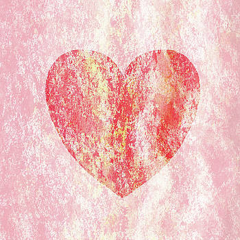 Irina Sztukowski - Pink Heart Watercolor Silhouette
