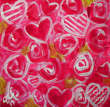Pink Hearts and Roses  by Jackie Carpenter