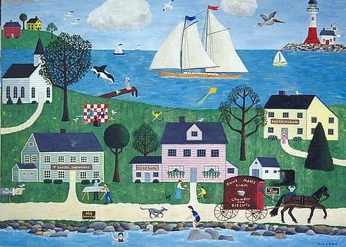 Pink House By The Sea by Susan Houghton Debus