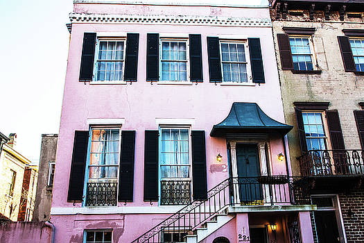 Pink House Savannah Georgia by Carol Mellema
