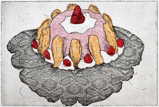 Pink Jello Cake by Michelle Fattibene