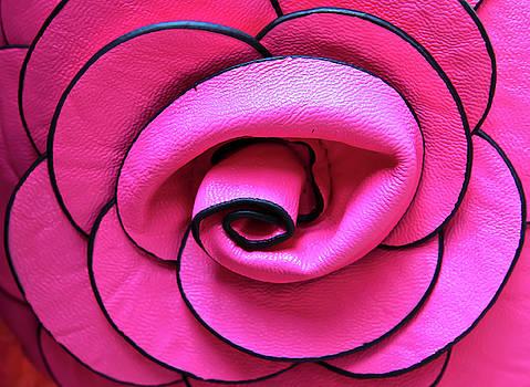 Pink Leather Flower by Prasert Chiangsakul