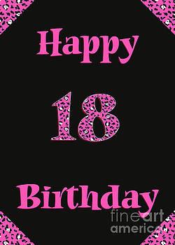 JH Designs - Pink Leopard 18th Birthday