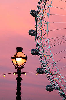 James Brunker - Pink London Eye Sunset 1