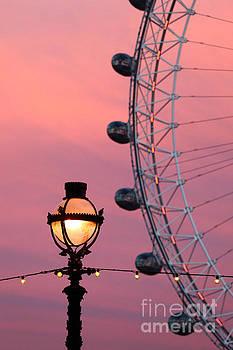 James Brunker - Pink London Eye Sunset 2