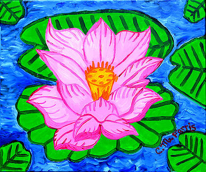Pink Lotus Flower by Christopher Farris