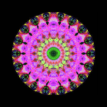 Sharon Cummings - Pink Love Mandala Art by Sharon Cummings