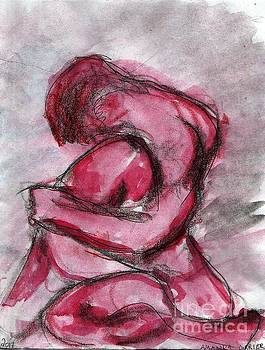 Expressionist Pink Male Figure by Amanda Currier