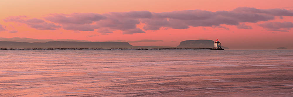 Pink Morning in the Bay of Thunder by Jakub Sisak