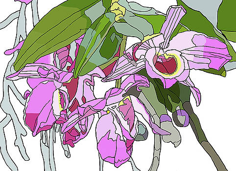 Pink Orchid Bunch by Jamie Downs