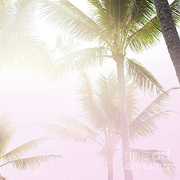 Pink palms by Cindy Garber Iverson